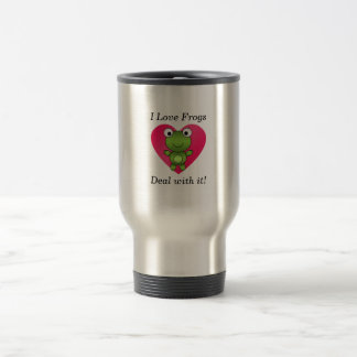 I love frogs deal with it mug
