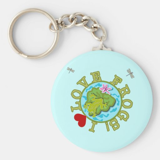 I Love Frogs Tshirts and Gifts Keychains
