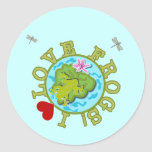 I Love Frogs Tshirts and Gifts Round Sticker