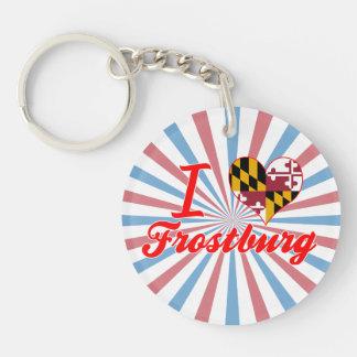 I Love Frostburg, Maryland Acrylic Keychain