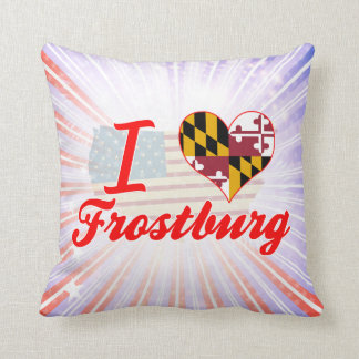 I Love Frostburg Maryland Pillow