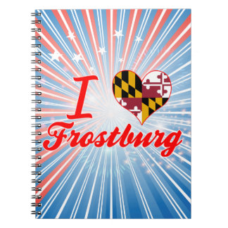 I Love Frostburg Maryland Spiral Notebook