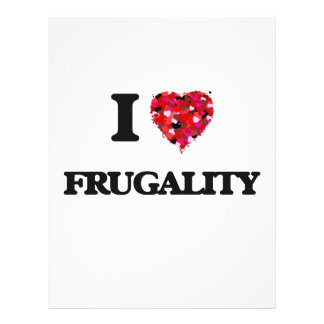 I Love Frugality 21.5 Cm X 28 Cm Flyer