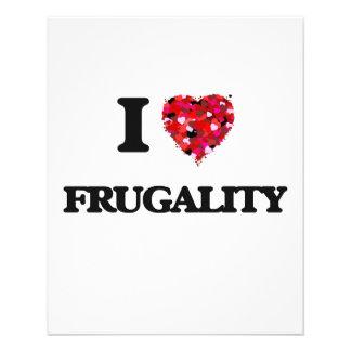 I Love Frugality 11.5 Cm X 14 Cm Flyer