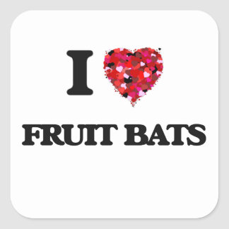 I love Fruit Bats Square Sticker
