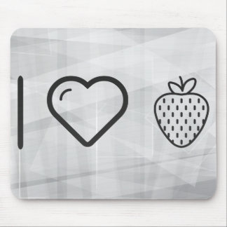 I Love Fruits Strawberries Mouse Pad