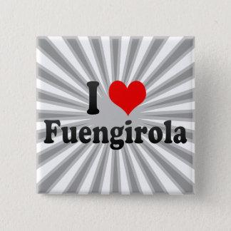I Love Fuengirola, Spain 15 Cm Square Badge