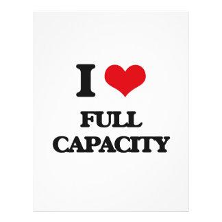 I love Full Capacity 21.5 Cm X 28 Cm Flyer