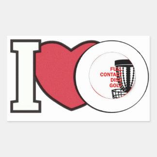 I Love Full Contact DISC GOLF sticker