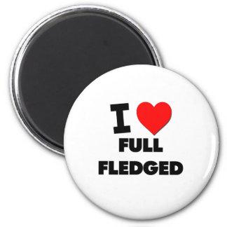 I Love Full Fledged 6 Cm Round Magnet