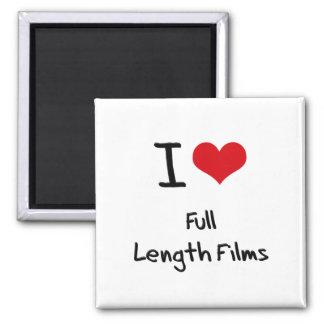 I Love Full Length Films Refrigerator Magnets