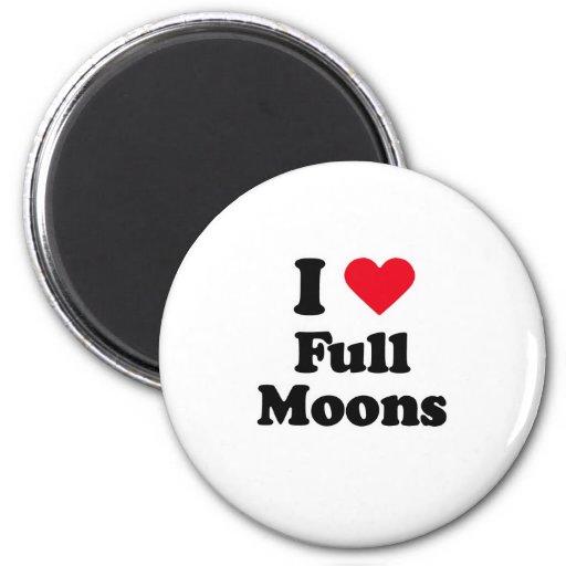 I love full moons fridge magnets