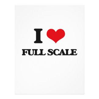 I love Full Scale Full Color Flyer