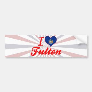 I Love Fulton, New York Bumper Stickers