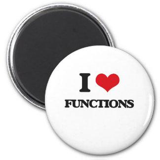 I love Functions Fridge Magnet
