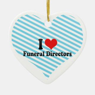 I Love Funeral Directors Christmas Ornaments