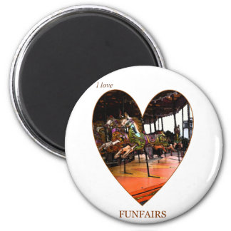I Love Funfairs Magnet