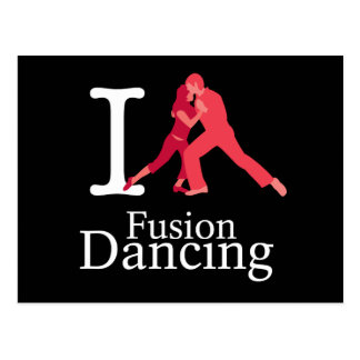 I Love Fusion Dancing Post Card