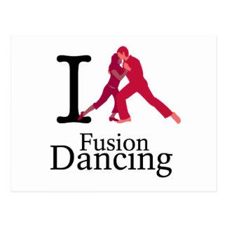 I Love Fusion Dancing Postcard