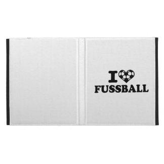 I love Fussball soccer iPad Folio Case
