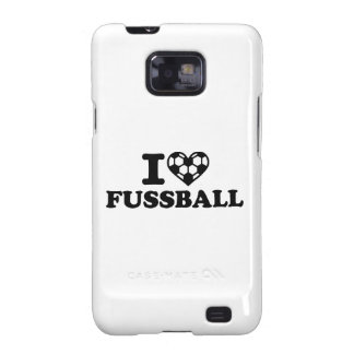 I love Fussball soccer Galaxy S2 Cover