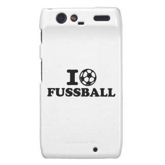 I love Fussball soccer Motorola Droid RAZR Cases
