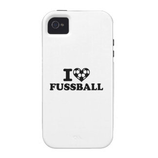 I love Fussball soccer iPhone 4/4S Cover
