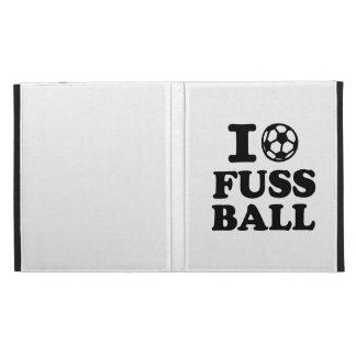 I love Fussball soccer iPad Folio Cases