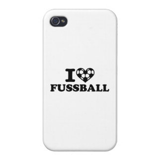 I love Fussball soccer Case For iPhone 4