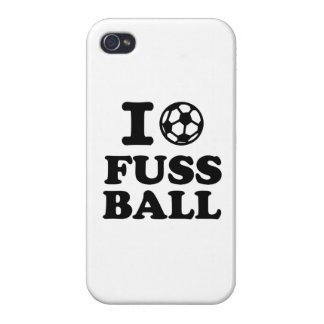 I love Fussball soccer Cases For iPhone 4