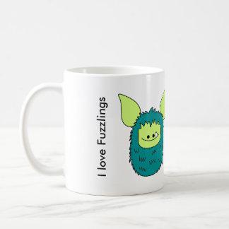 I love Fuzzlings mug - Green Fuzzling