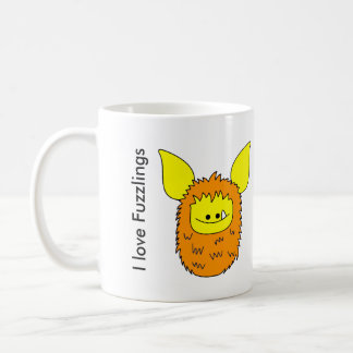 I love Fuzzlings mug - Orange/Yellow Fuzzling