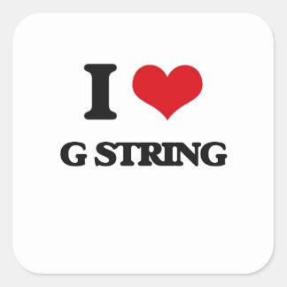 I love G String Square Sticker