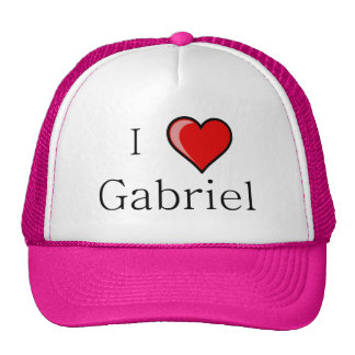 I Love Gabriel Mesh Hat