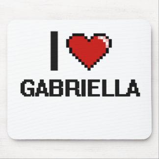 I Love Gabriella Digital Retro Design Mouse Pad