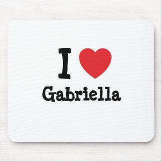 I love Gabriella heart T-Shirt Mouse Mats