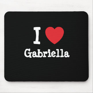 I love Gabriella heart T-Shirt Mouse Pad