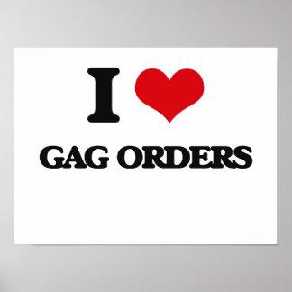 I love Gag Orders Print