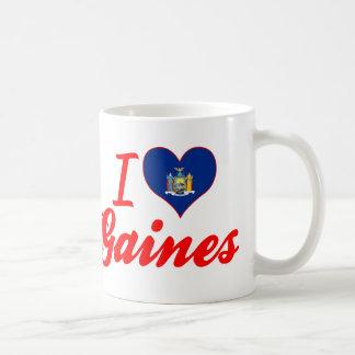 I Love Gaines, New York Coffee Mugs