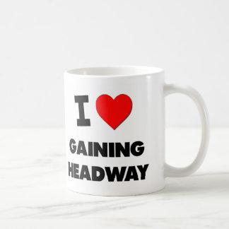 I Love Gaining Headway Basic White Mug