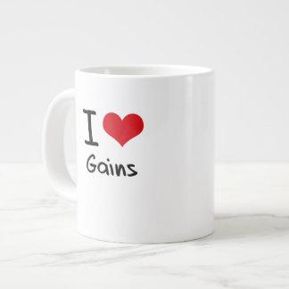 I Love Gains Extra Large Mugs