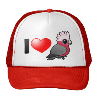I Love Galahs (crest up) Cap