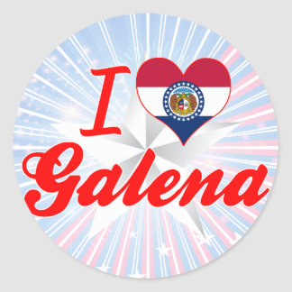 I Love Galena Missouri Stickers