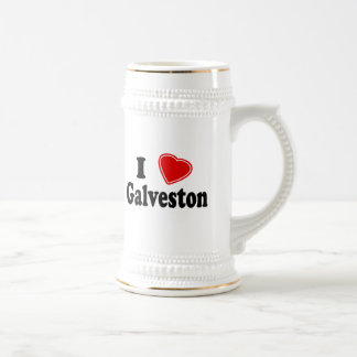 I Love Galveston Beer Stein
