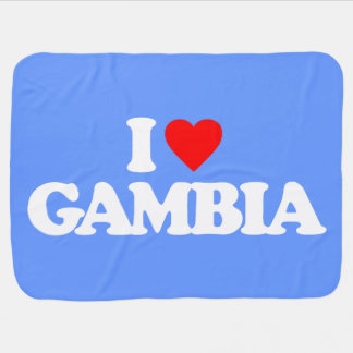 I LOVE GAMBIA BABY BLANKETS
