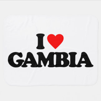 I LOVE GAMBIA STROLLER BLANKETS
