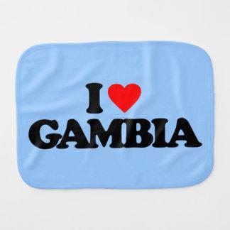 I LOVE GAMBIA BURP CLOTHS
