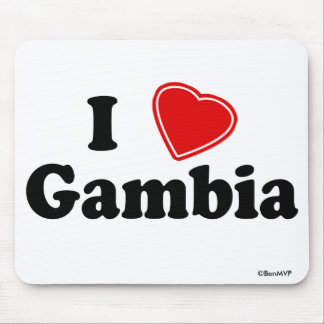 I Love Gambia Mouse Mat