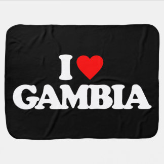 I LOVE GAMBIA RECEIVING BLANKETS