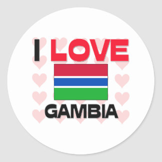I Love Gambia Round Sticker